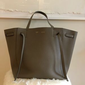 CELINE SMALL CABAS PHANTOM GRAINED CALFSKIN TAUPE